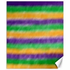 Mardi Gras Strip Tie Die Canvas 8  X 10  by PhotoNOLA