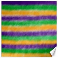 Mardi Gras Strip Tie Die Canvas 12  X 12