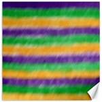 Mardi Gras Strip Tie Die Canvas 12  x 12   12 x12 Canvas - 1