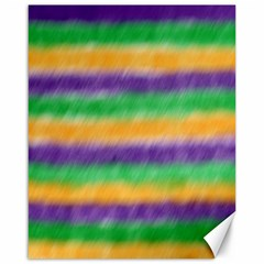 Mardi Gras Strip Tie Die Canvas 16  X 20   by PhotoNOLA