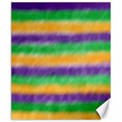 Mardi Gras Strip Tie Die Canvas 20  X 24   by PhotoNOLA