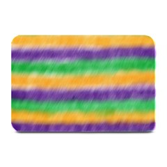 Mardi Gras Strip Tie Die Plate Mats by PhotoNOLA