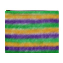 Mardi Gras Strip Tie Die Cosmetic Bag (xl) by PhotoNOLA