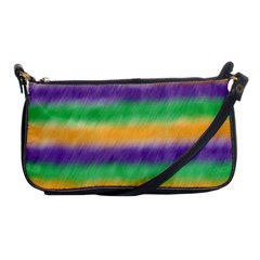 Mardi Gras Strip Tie Die Shoulder Clutch Bags by PhotoNOLA