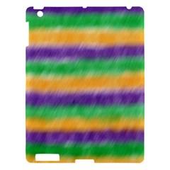 Mardi Gras Strip Tie Die Apple Ipad 3/4 Hardshell Case by PhotoNOLA