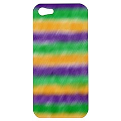 Mardi Gras Strip Tie Die Apple Iphone 5 Hardshell Case by PhotoNOLA