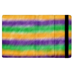 Mardi Gras Strip Tie Die Apple Ipad 3/4 Flip Case by PhotoNOLA