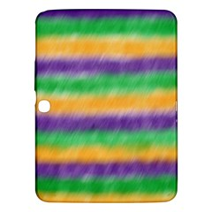 Mardi Gras Strip Tie Die Samsung Galaxy Tab 3 (10 1 ) P5200 Hardshell Case  by PhotoNOLA