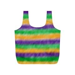 Mardi Gras Strip Tie Die Full Print Recycle Bags (s)  by PhotoNOLA