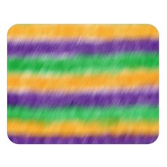 Mardi Gras Strip Tie Die Double Sided Flano Blanket (large)  by PhotoNOLA