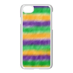 Mardi Gras Strip Tie Die Apple Iphone 7 Seamless Case (white) by PhotoNOLA