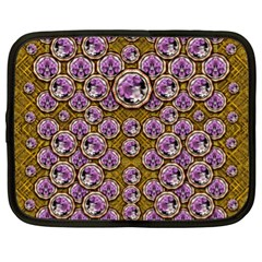 Gold Plates With Magic Flowers Raining Down Netbook Case (xl)  by pepitasart