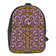 Gold Plates With Magic Flowers Raining Down School Bags(large)  by pepitasart