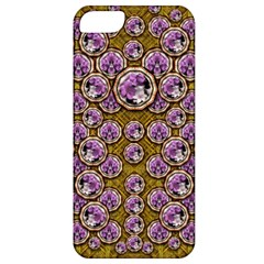 Gold Plates With Magic Flowers Raining Down Apple Iphone 5 Classic Hardshell Case by pepitasart