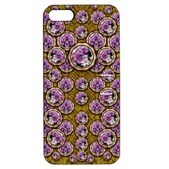 Gold Plates With Magic Flowers Raining Down Apple Iphone 5 Hardshell Case With Stand by pepitasart