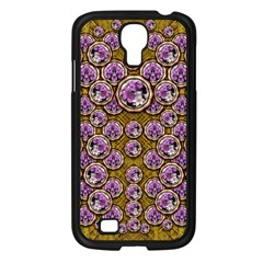 Gold Plates With Magic Flowers Raining Down Samsung Galaxy S4 I9500/ I9505 Case (black) by pepitasart