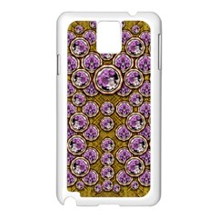 Gold Plates With Magic Flowers Raining Down Samsung Galaxy Note 3 N9005 Case (white) by pepitasart