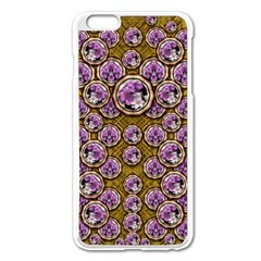 Gold Plates With Magic Flowers Raining Down Apple Iphone 6 Plus/6s Plus Enamel White Case by pepitasart