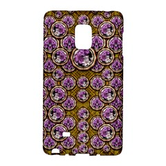 Gold Plates With Magic Flowers Raining Down Galaxy Note Edge by pepitasart