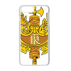 National Emblem Of France  Apple Iphone 7 Plus White Seamless Case by abbeyz71