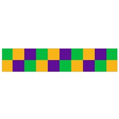 Mardi Gras Checkers Flano Scarf (small) by PhotoNOLA