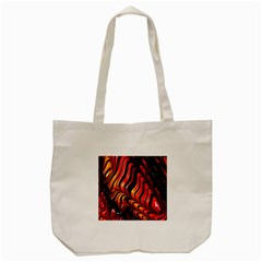 Fractal Mathematics Abstract Tote Bag (cream) by Onesevenart