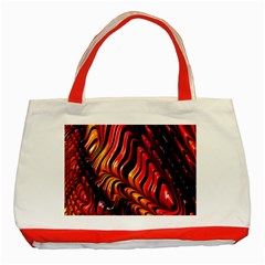 Fractal Mathematics Abstract Classic Tote Bag (red) by Onesevenart