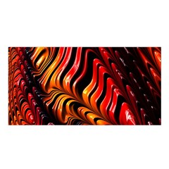 Fractal Mathematics Abstract Satin Shawl by Onesevenart