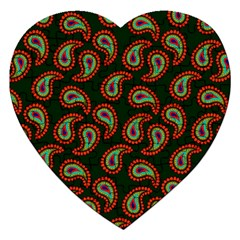 Pattern Abstract Paisley Swirls Jigsaw Puzzle (heart) by Onesevenart