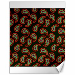Pattern Abstract Paisley Swirls Canvas 12  X 16   by Onesevenart