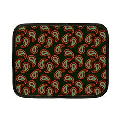Pattern Abstract Paisley Swirls Netbook Case (small)  by Onesevenart