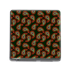 Pattern Abstract Paisley Swirls Memory Card Reader (square) by Onesevenart