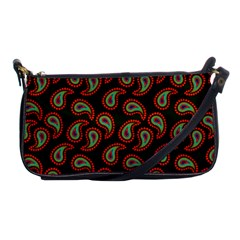 Pattern Abstract Paisley Swirls Shoulder Clutch Bags by Onesevenart