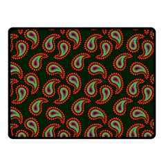 Pattern Abstract Paisley Swirls Fleece Blanket (small) by Onesevenart