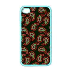 Pattern Abstract Paisley Swirls Apple Iphone 4 Case (color) by Onesevenart