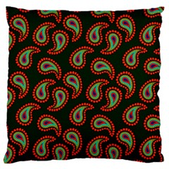 Pattern Abstract Paisley Swirls Large Cushion Case (two Sides) by Onesevenart