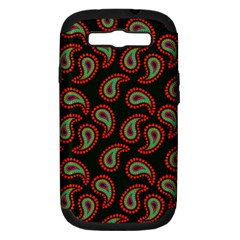 Pattern Abstract Paisley Swirls Samsung Galaxy S Iii Hardshell Case (pc+silicone) by Onesevenart