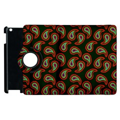 Pattern Abstract Paisley Swirls Apple Ipad 2 Flip 360 Case by Onesevenart
