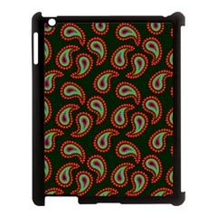 Pattern Abstract Paisley Swirls Apple Ipad 3/4 Case (black) by Onesevenart