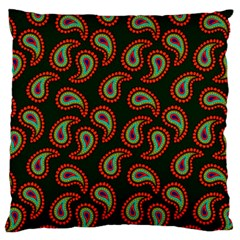 Pattern Abstract Paisley Swirls Large Flano Cushion Case (one Side) by Onesevenart