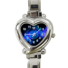 Particles Gear Circuit District Heart Italian Charm Watch by Onesevenart