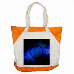 Particles Gear Circuit District Accent Tote Bag by Onesevenart