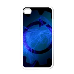 Particles Gear Circuit District Apple Iphone 4 Case (white) by Onesevenart