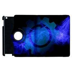 Particles Gear Circuit District Apple Ipad 3/4 Flip 360 Case by Onesevenart