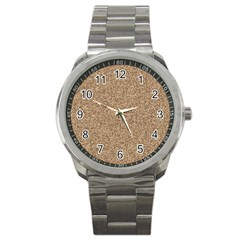 Mosaic Pattern Background Sport Metal Watch by Onesevenart