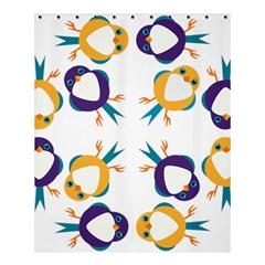 Pattern Circular Birds Shower Curtain 60  X 72  (medium)  by Onesevenart