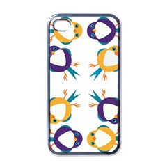 Pattern Circular Birds Apple Iphone 4 Case (black) by Onesevenart