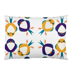 Pattern Circular Birds Pillow Case (two Sides) by Onesevenart