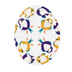 Pattern Circular Birds Ornament (oval Filigree) by Onesevenart