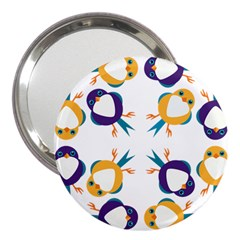 Pattern Circular Birds 3  Handbag Mirrors by Onesevenart